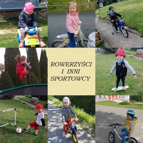 rowerzyści i inni sportowcy